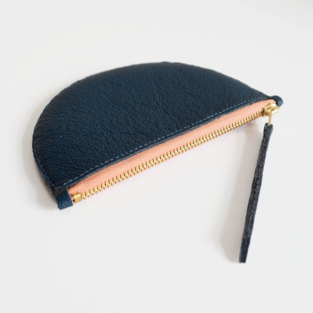 Mimi Coin Purse, Navy and Peach