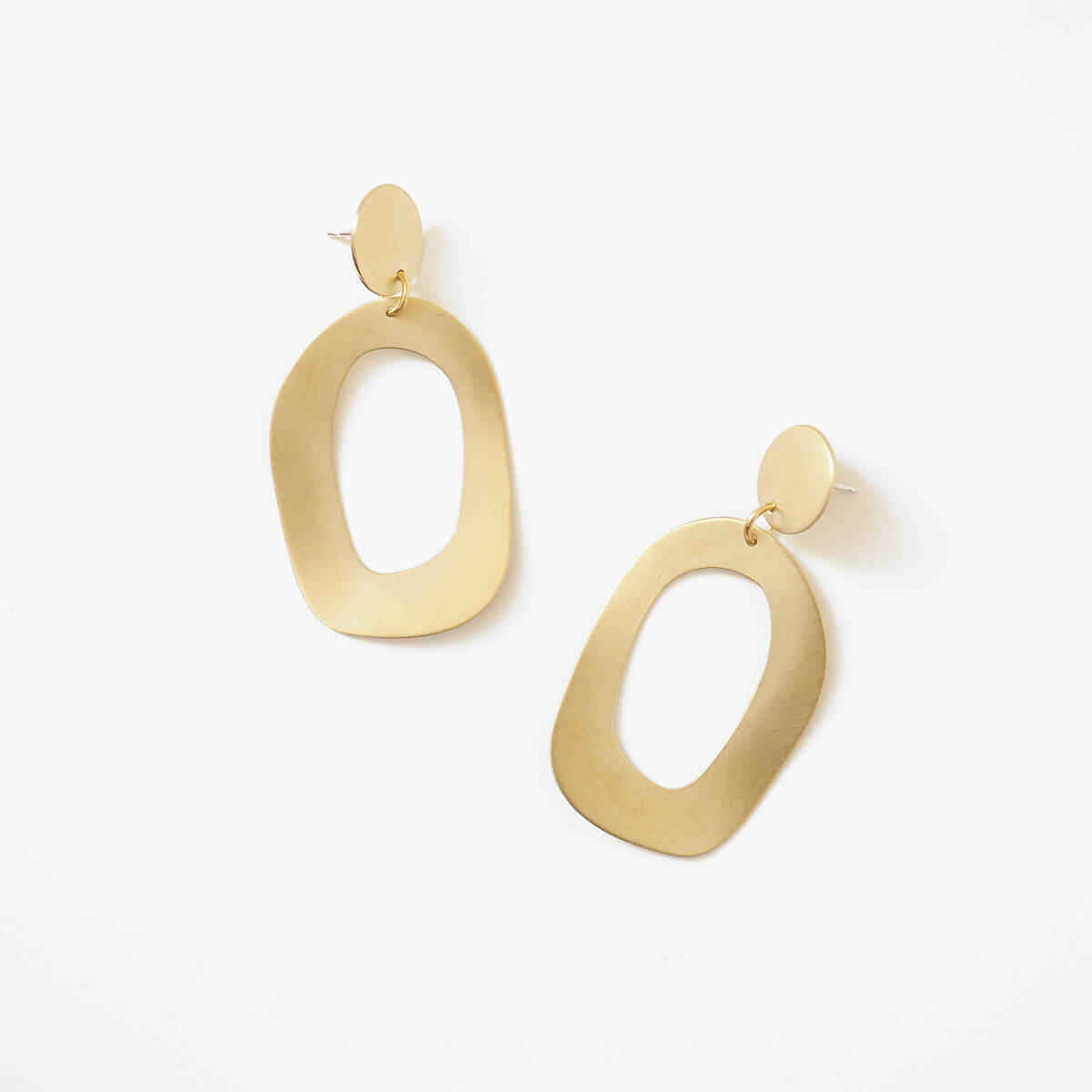 Flora Earrings, Brass | Curious Makers