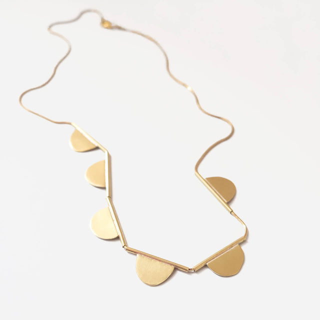Mabel Necklace, Brass | Curious Makers