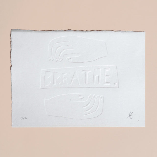 Breathe A5 Embossed Print Curious Makers