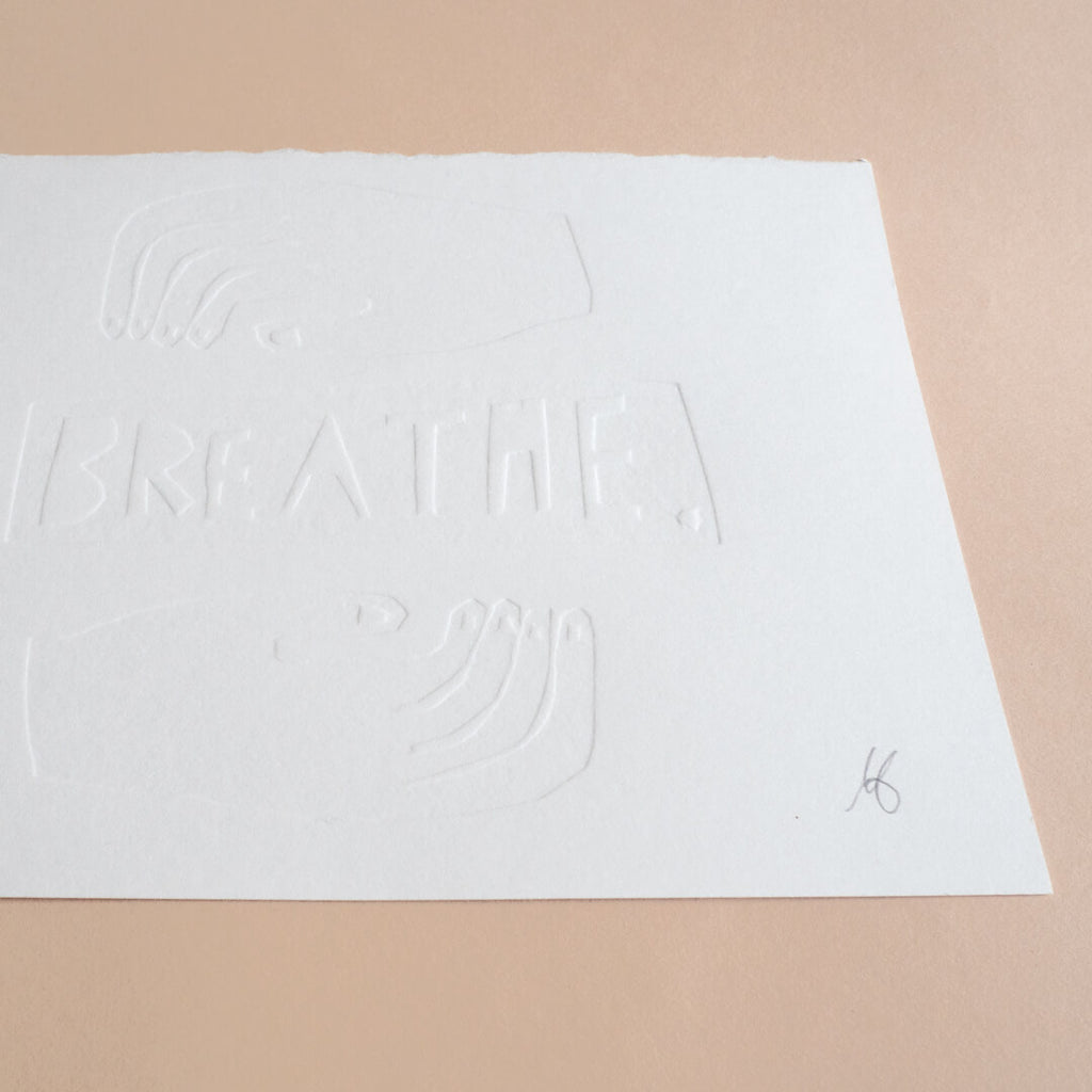 Breathe A5 Embossing Print Curious Makers
