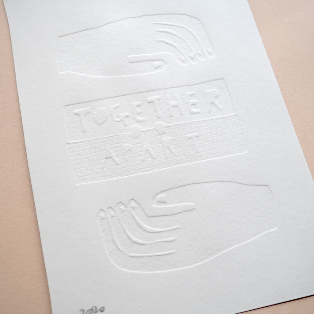 Together Apart Embossed Print by Meg Fartharly Curious Makers