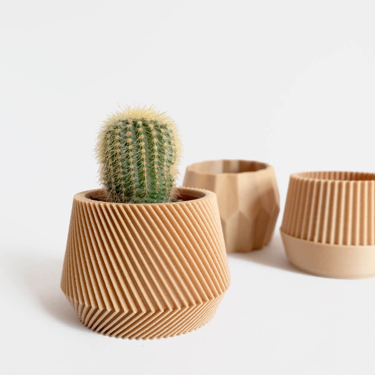 Geometric Planters, Set of 3 | Curious Makers