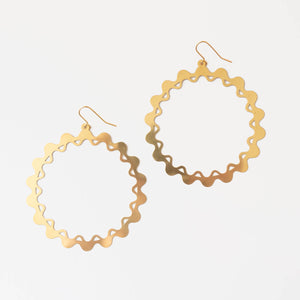 Hula Earrings | Large Hoop Earrings | Curious Makers