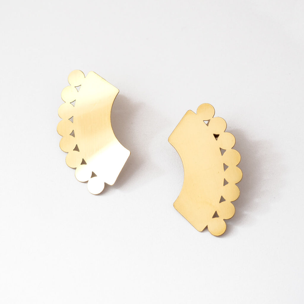 Ulla Earrings | Large Statement Earrings | Curious Makers