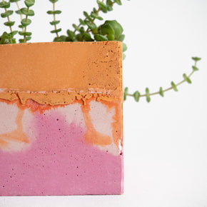 Square Planter, Pink and Orange | Curious MakersSquare Planter, Pink and Orange | Curious Makers