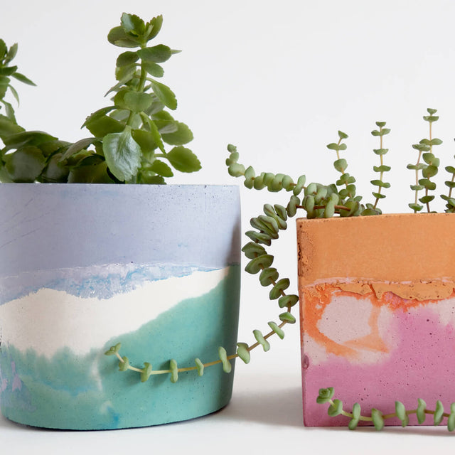 Round Planter, Sage and Lilac | Curious Makers