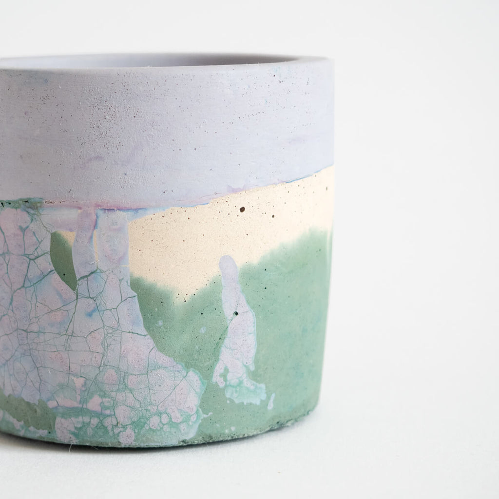 Small Round Planter, Sage and Lilac | Curious Makers