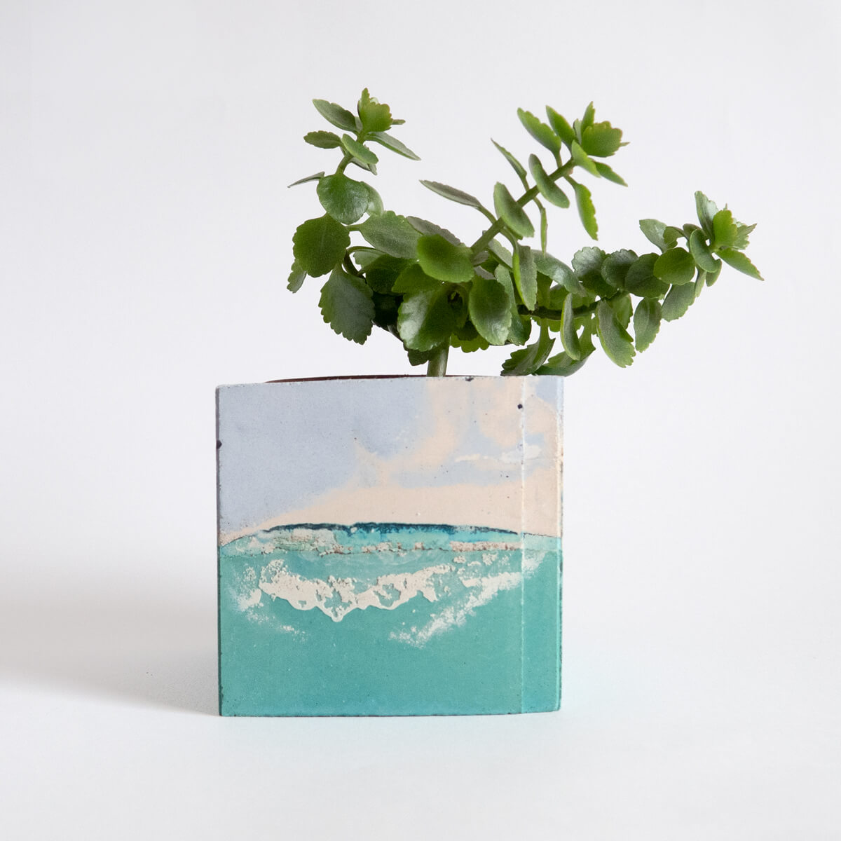 Square Planter, Sage and Lilac | Curious Makers