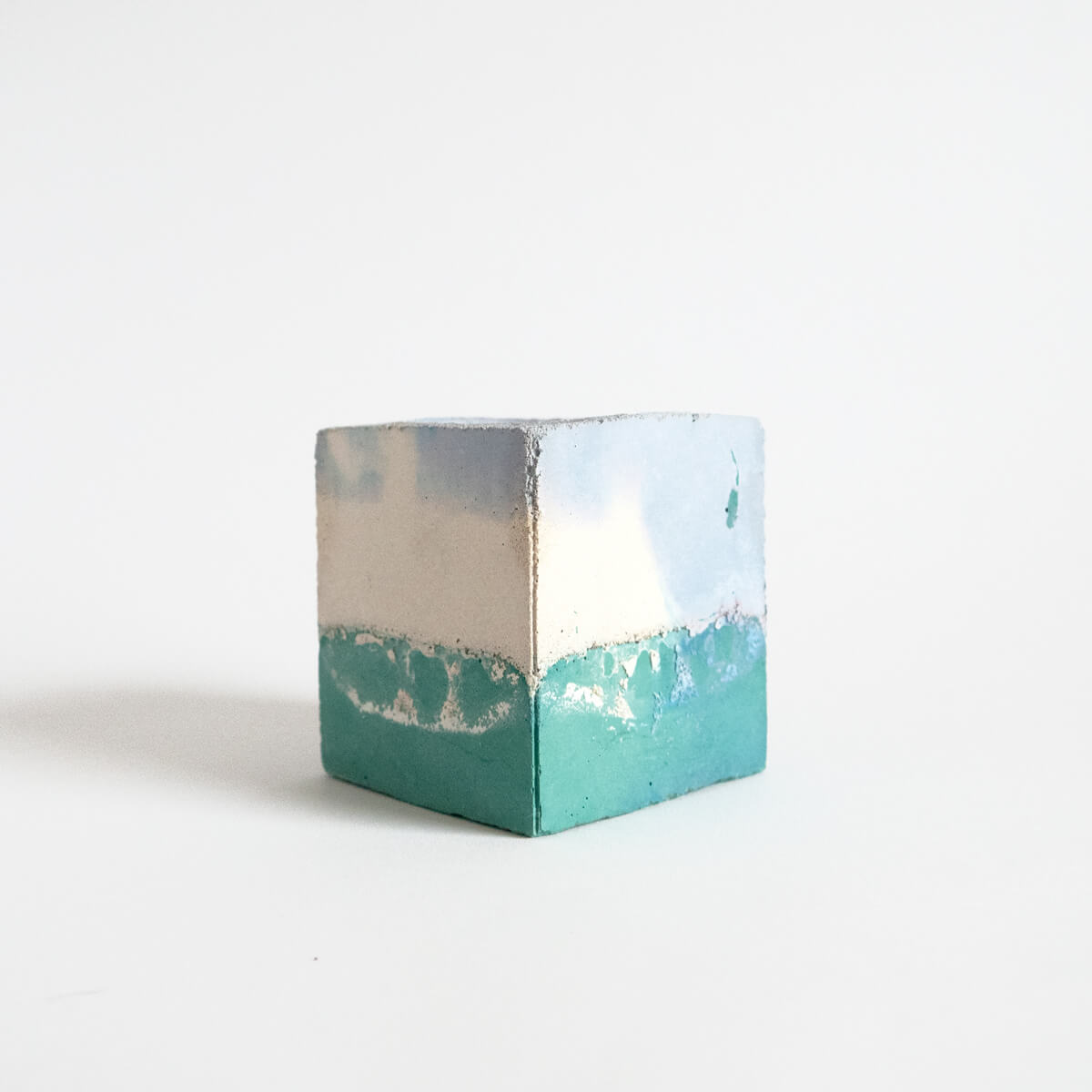 Small Square Planter, Sage and Lilac | Curious Makers