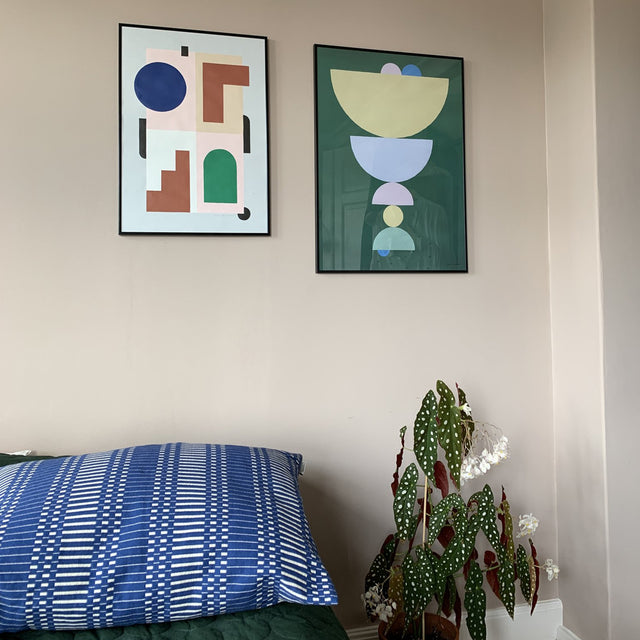 Circlet Green Poster in situ | Curious Makers