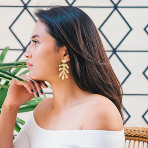 Matisse Earrings, Brass | Curious Makers