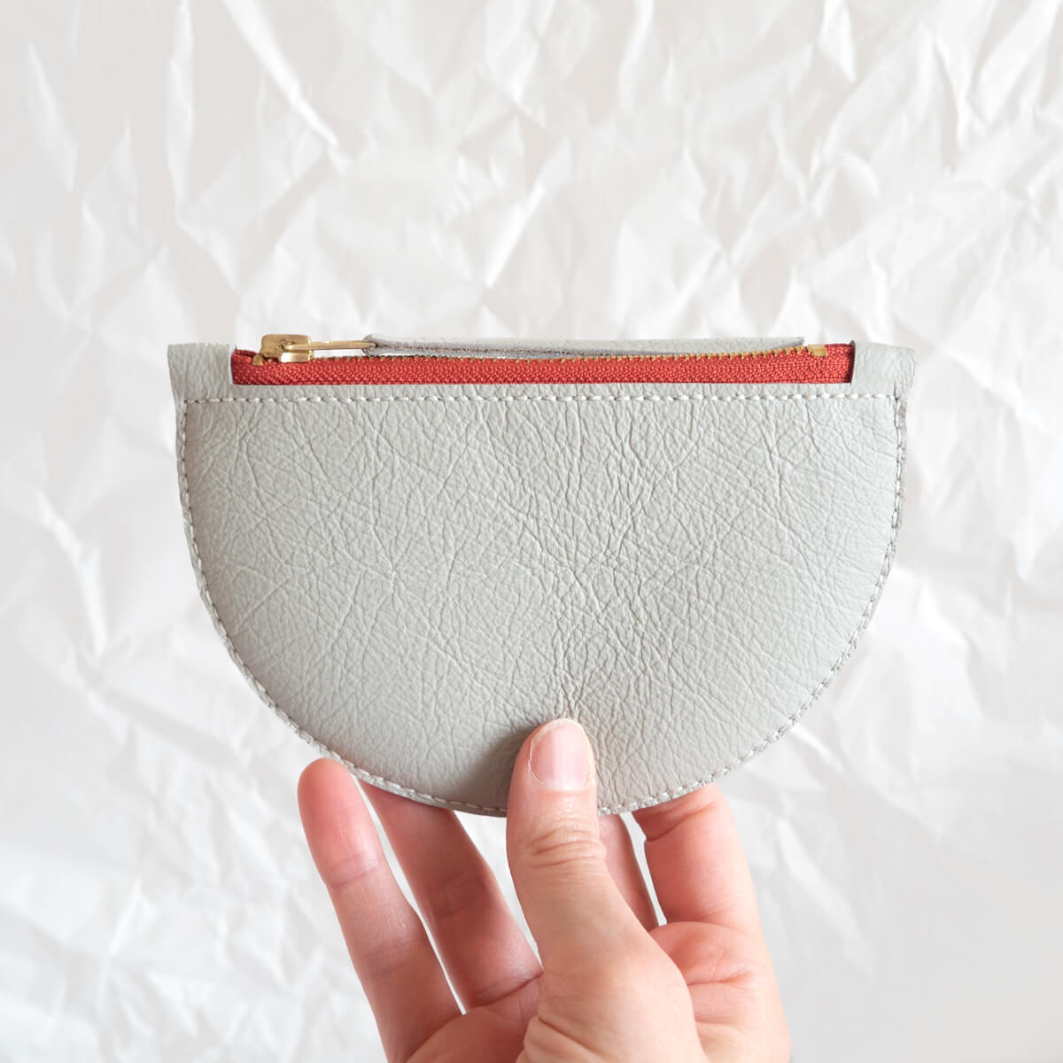 Mimi Coin Purse, Cream and Orange | Curious Makers