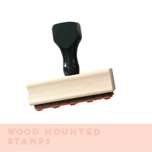 Wood Mounted Stamps With A Handle