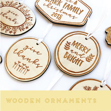 Load image into Gallery viewer, Laser Cut Ornaments