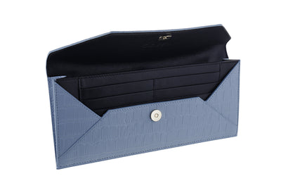 BLUE ENVELOPE CLUTCH