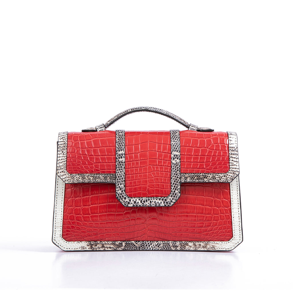 SASCHA BAG |  CROC WITH LIZARD