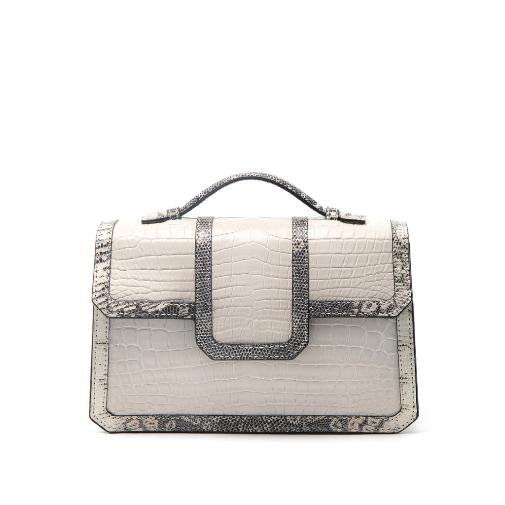 SASCHA BAG |  POLAR CROC WITH LIZARD