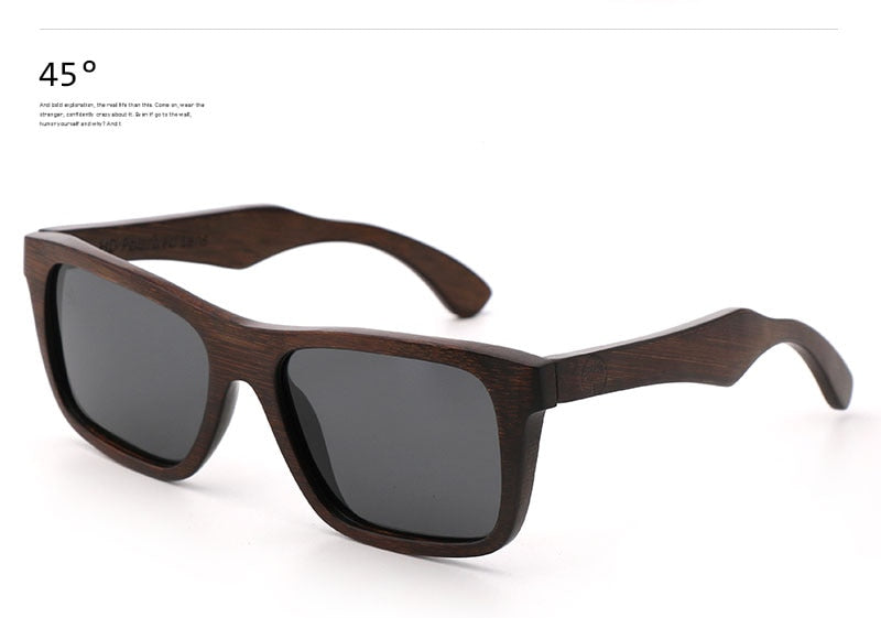 Funky Bamboo Wood Sunglass - Polarized