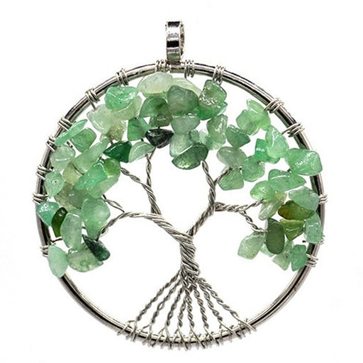 7 Chakra Tree of Life Stone Necklace