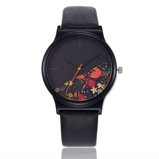 Black Flower Watch for Women