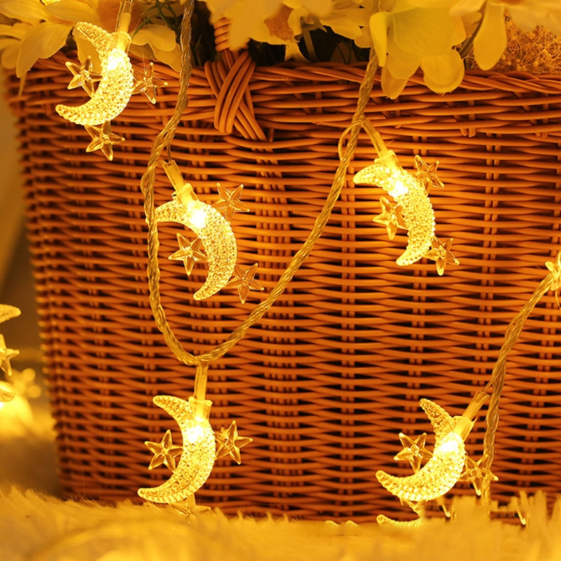 Star and Moon LED String Lights