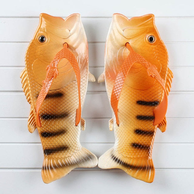 Funny Fish Shape Sole Men Slippers