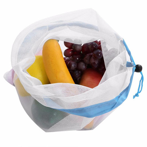 Reusable Produce Bags - Washable Mesh Bags for Grocery Shopping