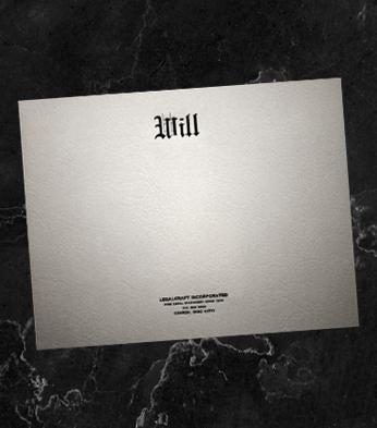 """Will"" Covers - Letter Size - 9 x 12 1/2"