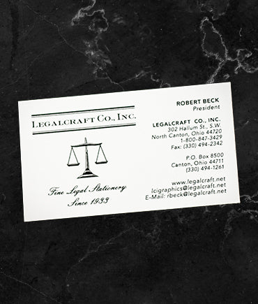 Thermographed Business Cards - Laid