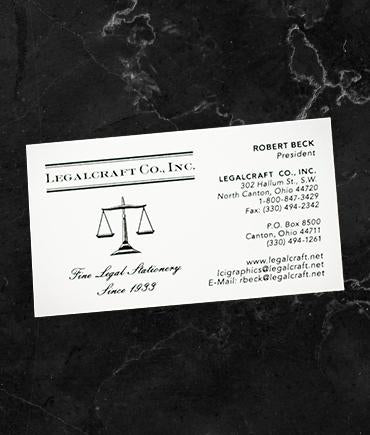 Thermographed Business Cards - Wove