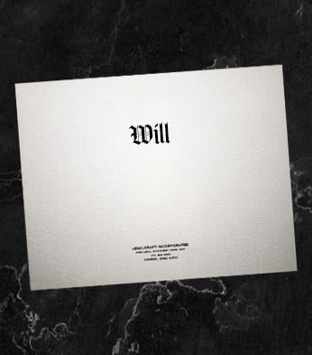"""Will"" Covers - Legal Size - 9 x 15 1/2"