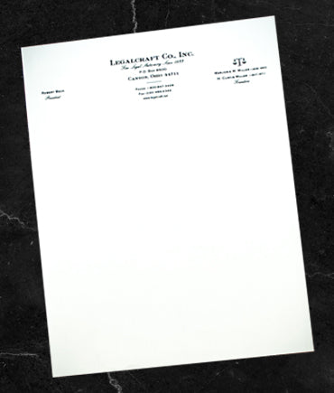 LegalCraft Bond - Letterheads Engraved - Laid Finish