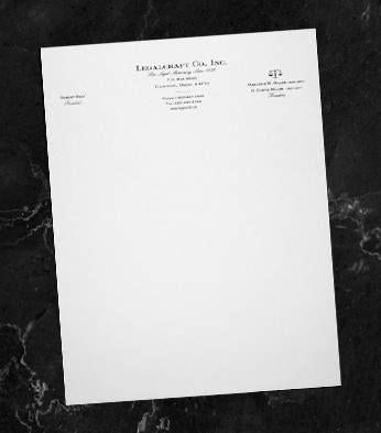 LegalCraft Linen Letterheads - Laid Finish