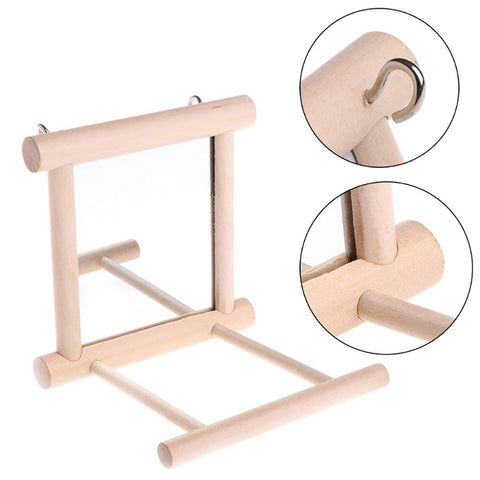 Bird Puzzle Hanging Solid Wood Stand - Animax Pet Shop