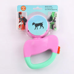 Automatic Retractable Walking Double Lead Leash