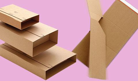 twist packaging variable height - flexible cardboard packaging to fit lots of different sized products