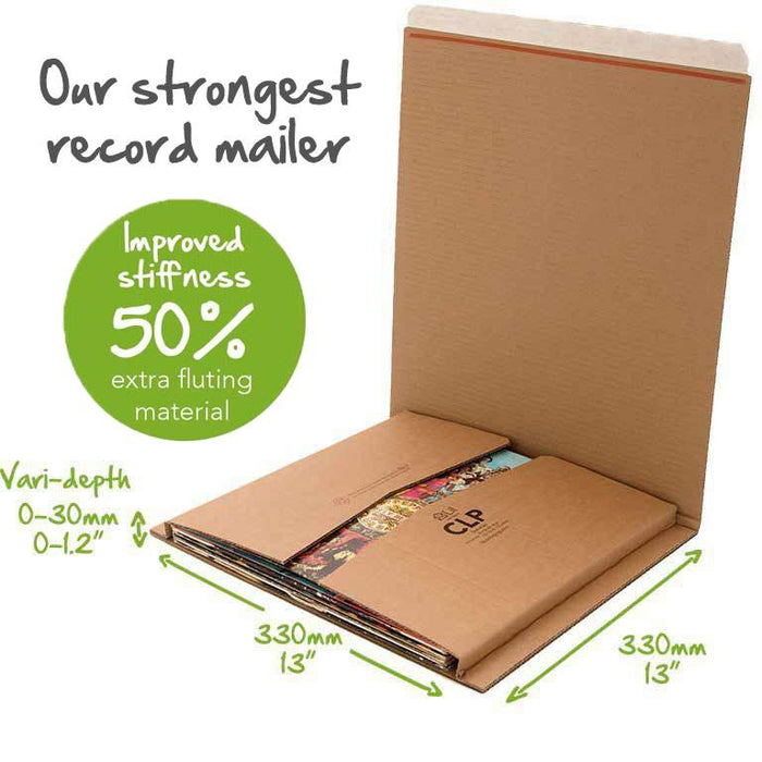 STRONG 12 LP SINGLE RECORD VINYL MAILERS SHIPPING POSTAL CARDBOARD BOXES 1, BROWN