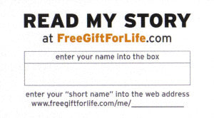 Free Gift For Life Cards (25/pkg)