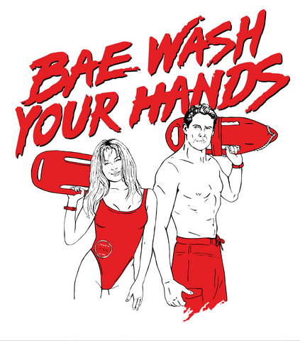 Affiche « BAE WASH YOUR HANDS » - tamelo boutique