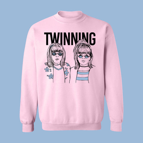 Crewneck unisexe TWINNING (rose) - tamelo boutique
