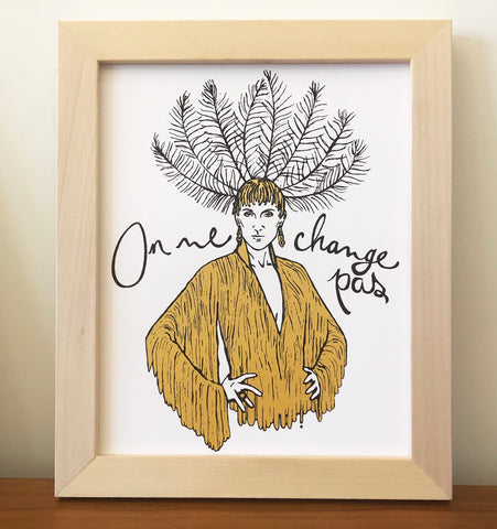 Affiche « On ne change pas » - - tamelo boutique