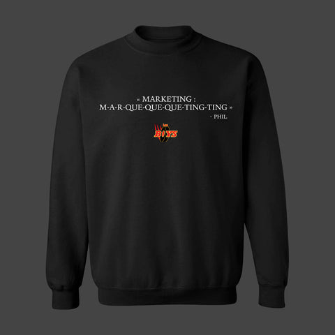 MARKETING (LES BOYS) CREWNECK NOIR (CITATION) - tamelo boutique