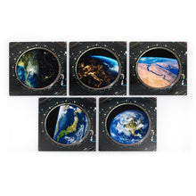 Load image into Gallery viewer, Window with a View – Set of 5 embroidered canvases