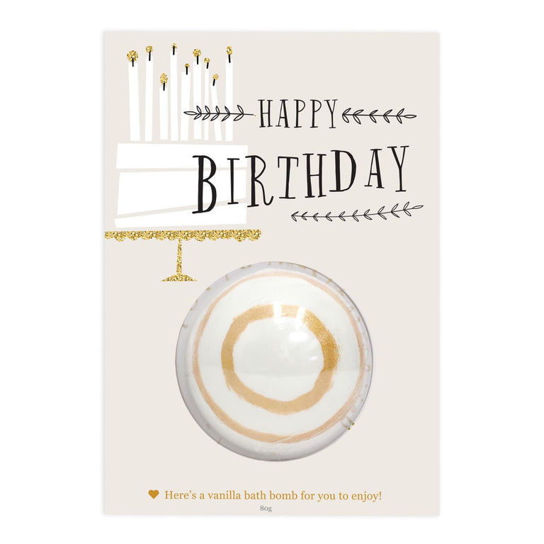 Bath Bomb Gift Card - Birthday