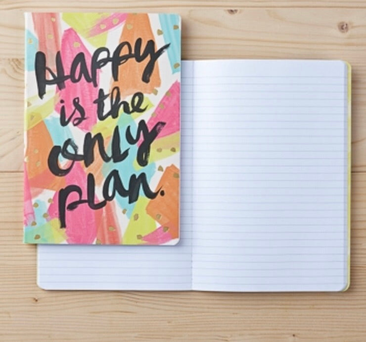 Happy is the Only Plan - Set of 2 Notebooks