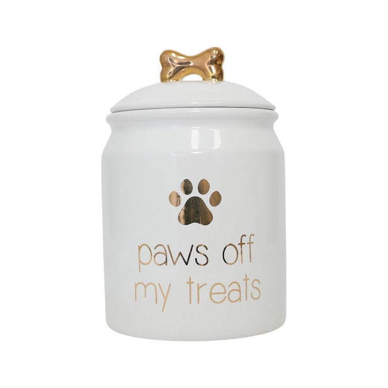 Pet Paws Off Treat Jar