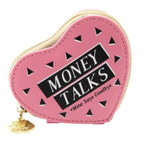 Sweet Tooth Money Talks Heart Purse
