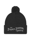 Striped Stocking Society Pom Pom Knit Cap - The Asylum Emporium