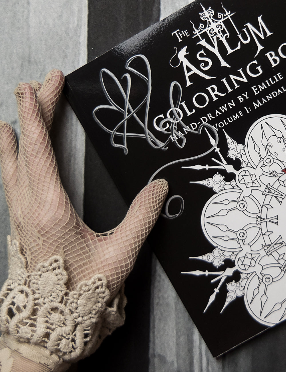 Autographed Asylum Coloring Book with Custom Dedication